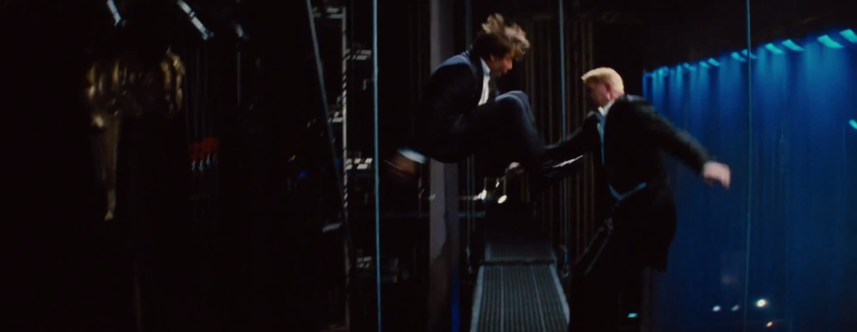Ethan Hunt Tom Cruise Jump Kick Mission: Impossible - Rogue Nation