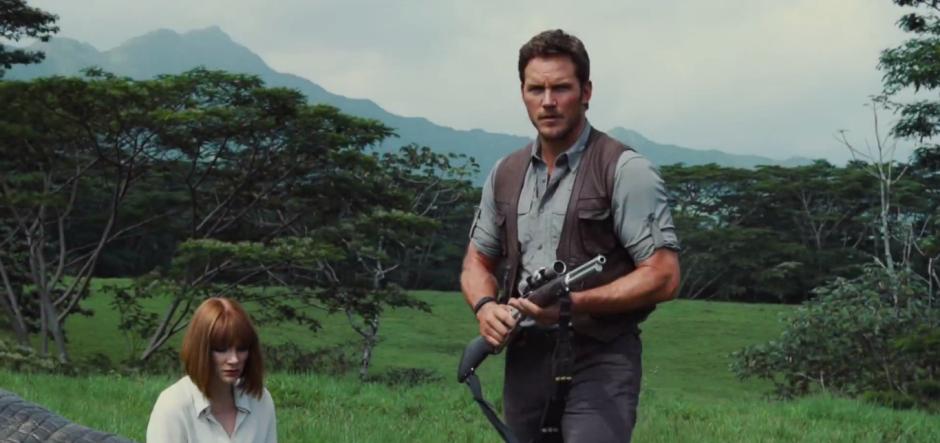Jurassic World TV Spot Chris Pratt Armed