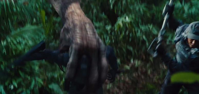 Jurassic World TV Spot Imdominous Rex Grabs a Man
