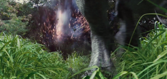 Jurassic World TV Spot Indominus Rex Chased by Helicopter