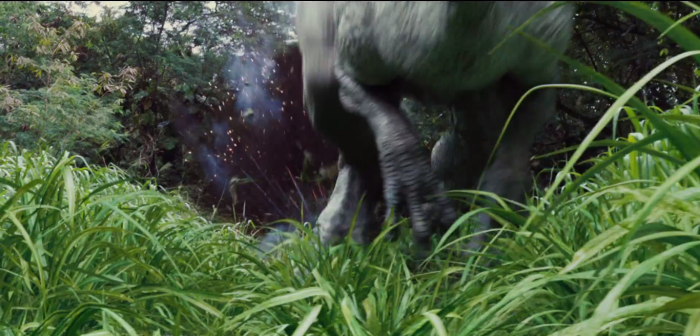 Jurassic World TV Spot Indominus Rex Runs From Fire