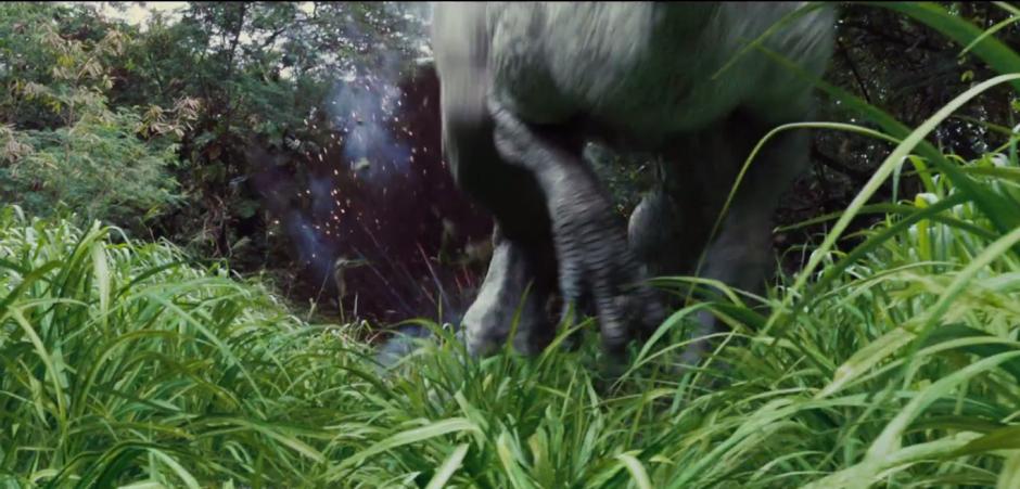 Jurassic World TV Spot Indominus Rex Runs From Fire