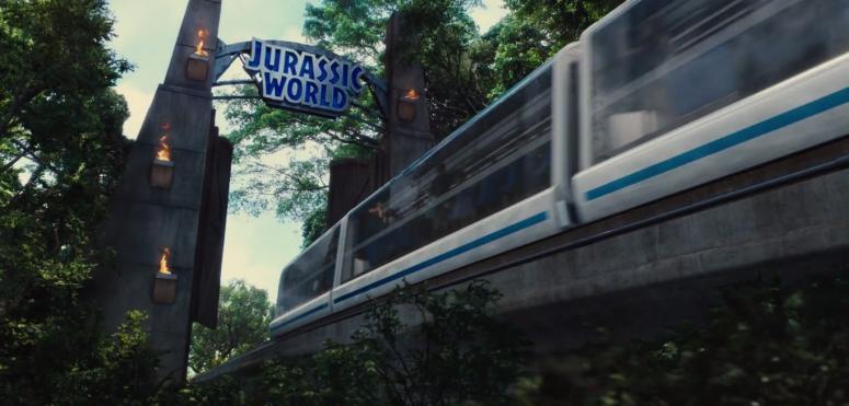 Jurassic World TV Spot Monorail Gate