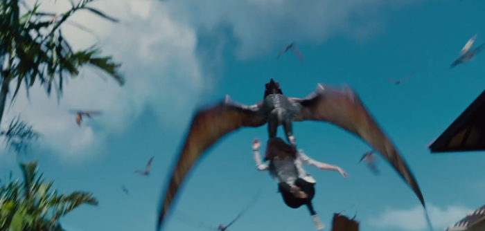 Jurassic World TV Spot Pterodactyls Grab Woman
