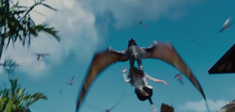 Jurassic World TV Spot Pterodactyls Grab Woman