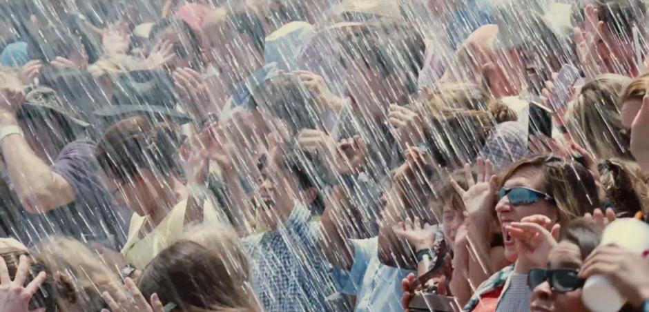 Jurassic World TV Spot Wet Crowd Splash