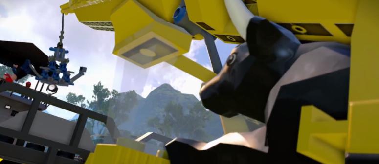 Lego Jurassic Park Cow Velociraptor