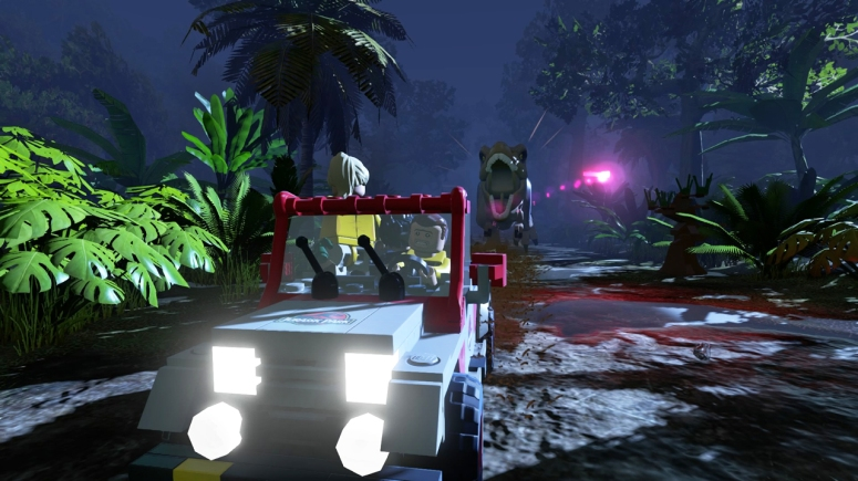 Lego Jurassic World Jeep Chase