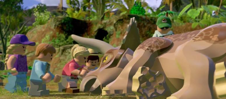 Lego Jurassic World Sick Triceratops