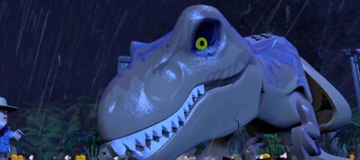 Lego Jurassic Park T-Rex Face