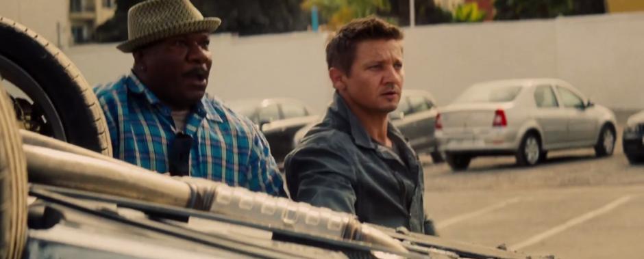 Ving Rhames Luthor  and Brandt Jeremy Renner Appear Mission: Impossible - Rogue Nation