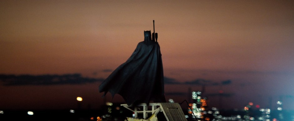 Batman Pearching with Rifle from Batman V Superman Dawn of Justice Trailer