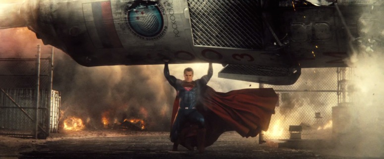 Batman V Superman Dawn of Justice Trailer Superman Lifts Missle