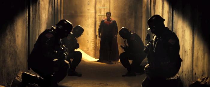 Batman V Superman Dawn of Justice Trailer Superman Squad Kneels