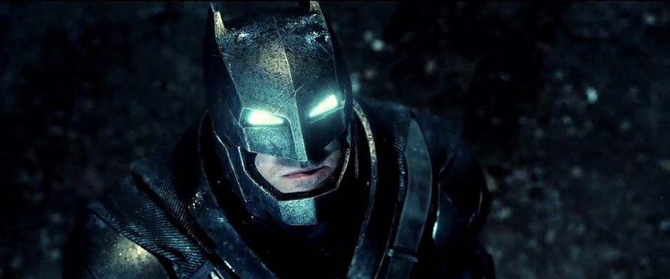 Ben Affleck as Batman In Armor from Batman V Superman Dawn of Justice Trailer 1