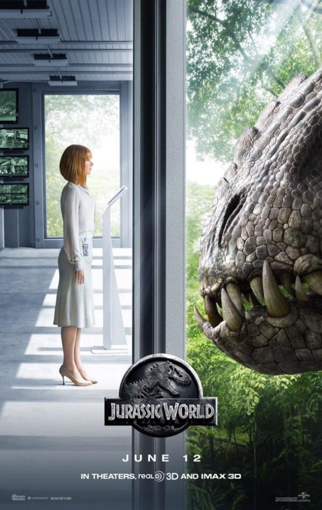 Jurassic World Poster Bryce Dallas Howard Indominus Rex