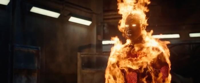 Johnny Storm Michael B Jordan Human Torch in Fantastic Four Trailer 2