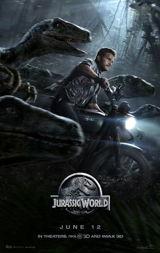 Jurassic World Chris Pratt Velociraptor Poster