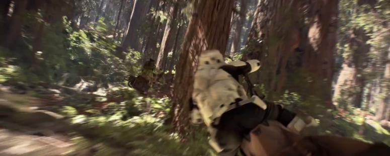 Star Wars Battlefront Speeder Chase POV