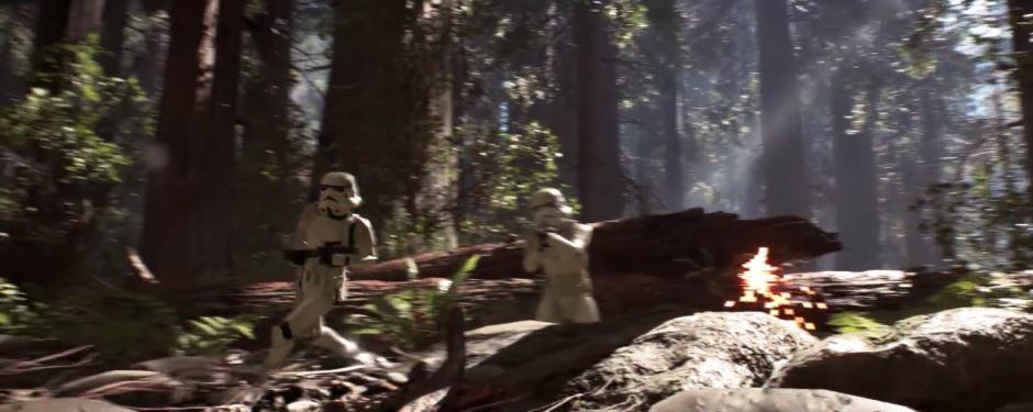 Star Wars Battlefront Stormtrooper Run and Shoot