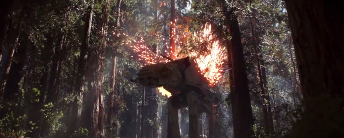 Star Wars Battlefront Trailer AT-AT Explodes