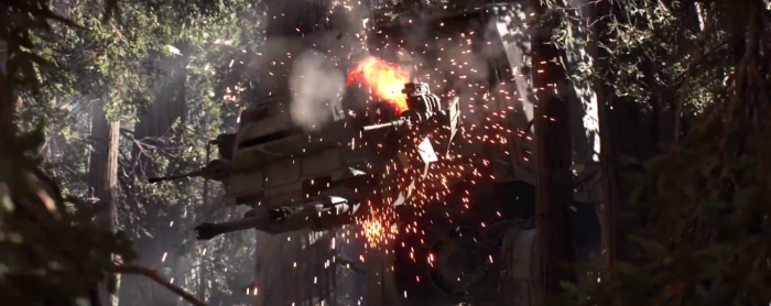 Star Wars Battlefront Trailer AT-AT Hit