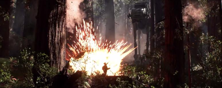 Star Wars Battlefront Trailer AT-AT kills Rebel