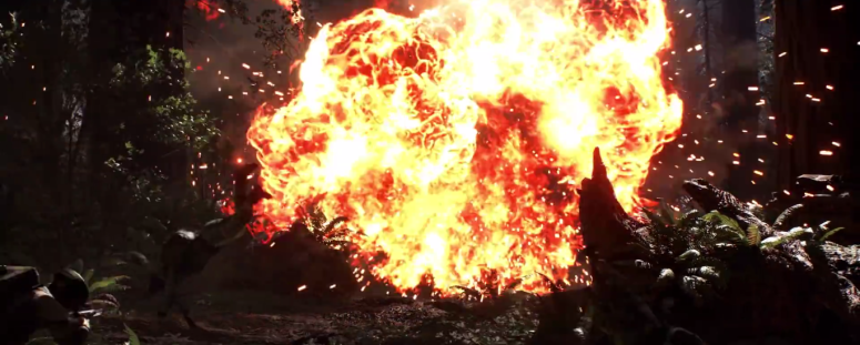 Star Wars Battlefront Trailer AT-AT Missle Explosion
