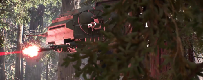 Star Wars Battlefront Trailer AT-AT Shoots