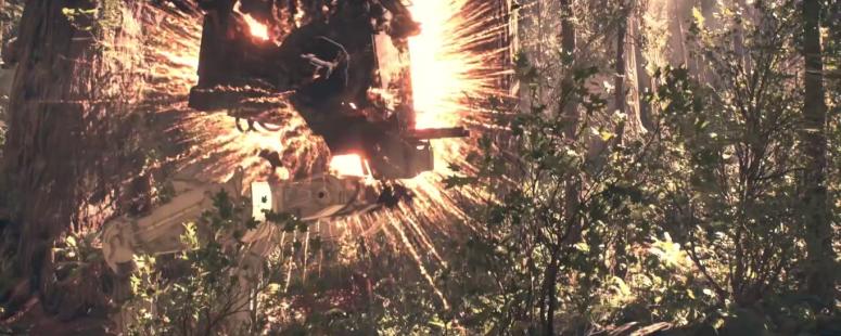 Star Wars Battlefront Trailer Chicken Walker Explosion