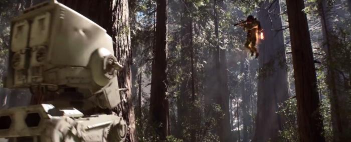 Star Wars Battlefront Trailer Chicken Walker Vs Rebel Jetpack
