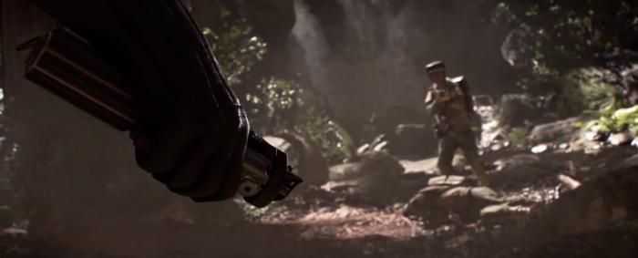 Star Wars Battlefront Trailer Darth Vader Hand Lightsaber