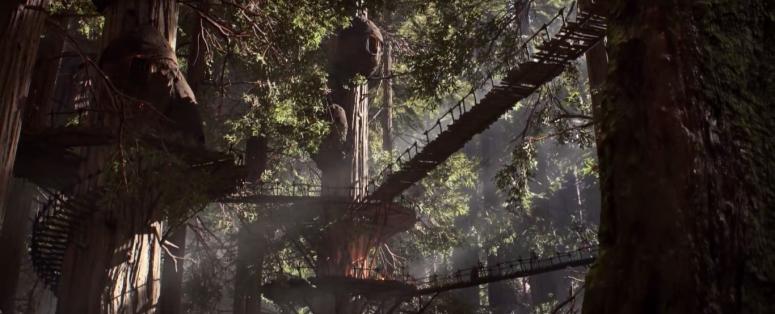 Star Wars Battlefront Trailer Ewok Village