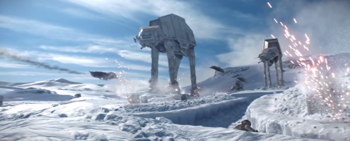 Star Wars Battlefront Trailer Hoth AT-AT