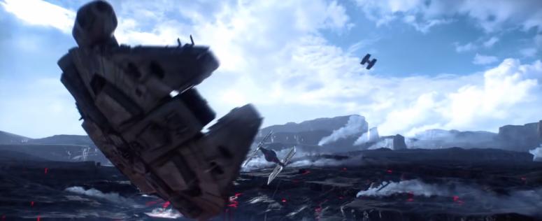 Star Wars Battlefront Trailer Millenium Falcon