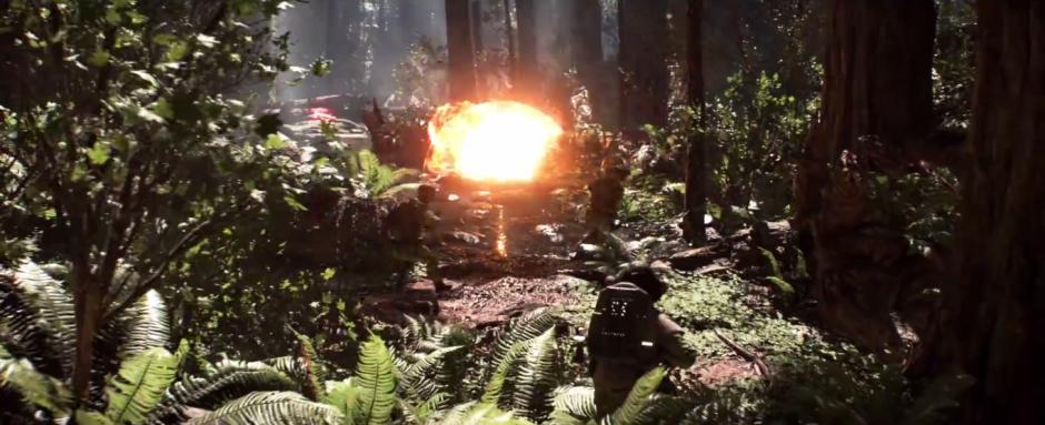 Star Wars Battlefront Trailer Rebel Attack Explosion