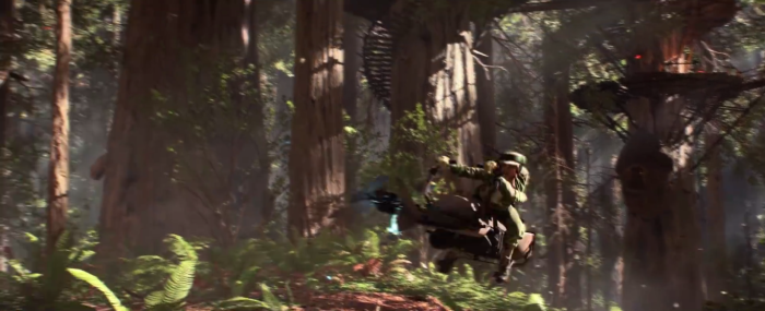 Star Wars Battlefront Trailer Rebel Speeder Endor