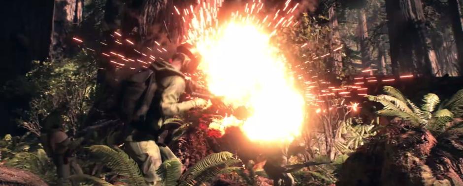 Star Wars Battlefront Trailer Speeder Crash 2