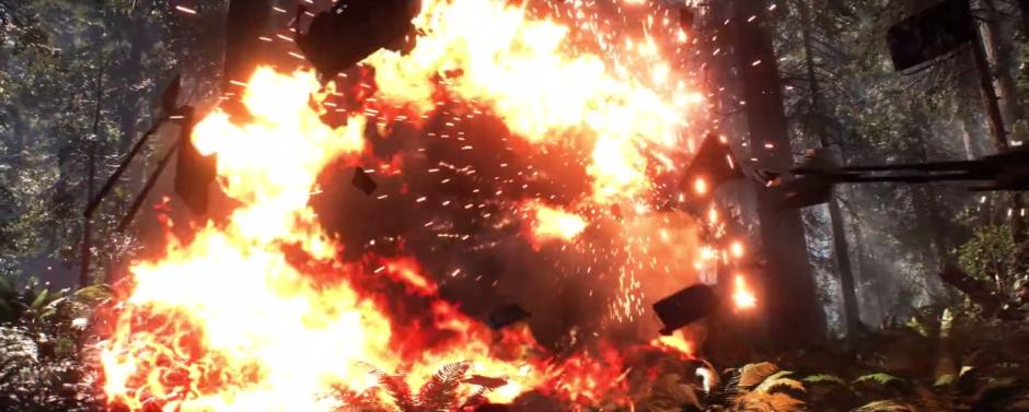 Star Wars Battlefront Trailer Speeder Explosion