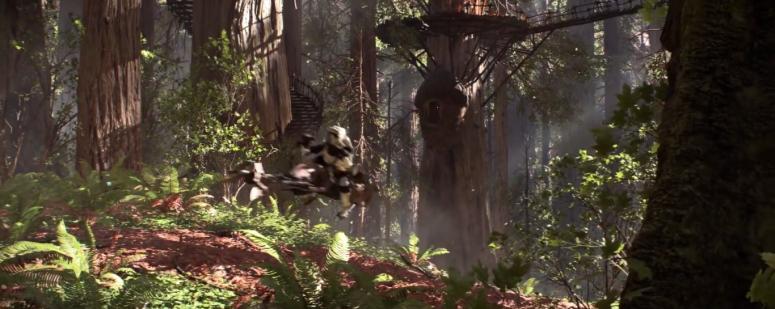 Star Wars Battlefront Trailer Stormtrooper Speeder Endor