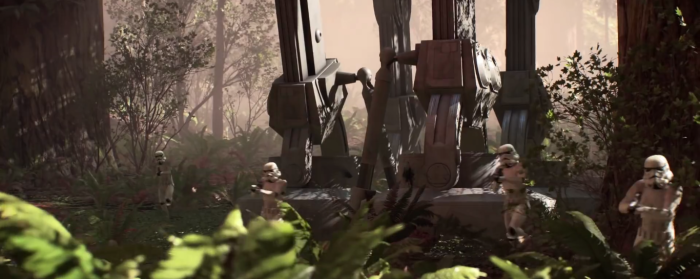 Star Wars Battlefront Trailer Stormtroopers and AT-AT