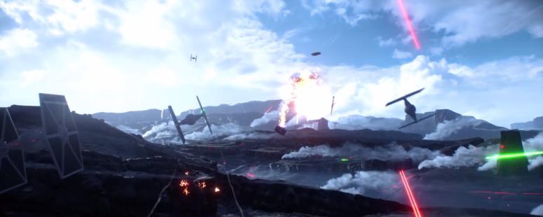 Star Wars Battlefront Trailer Tie Fighter Combat