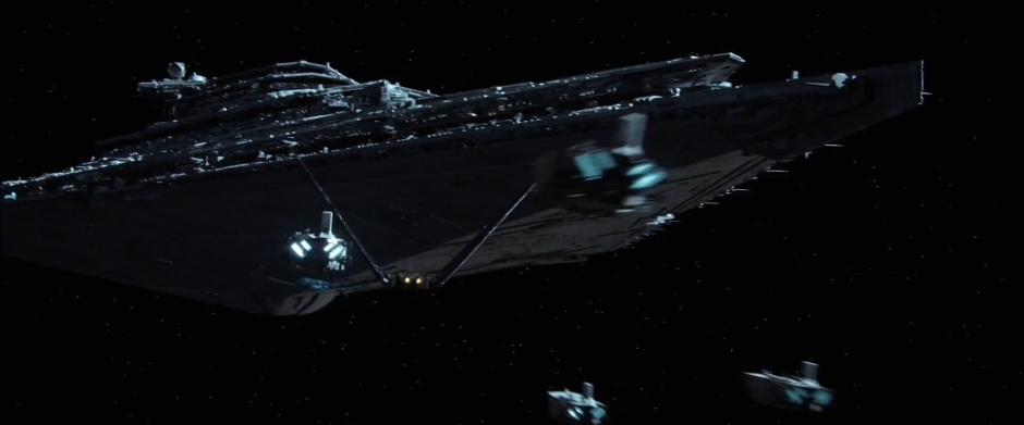 Star Wars The Forece Awakens New Star Destroyer and Tie Fighters