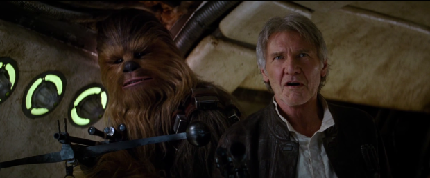 Han Solo and Chewbacca in Star Wars: The Force Awakens Trailer 2