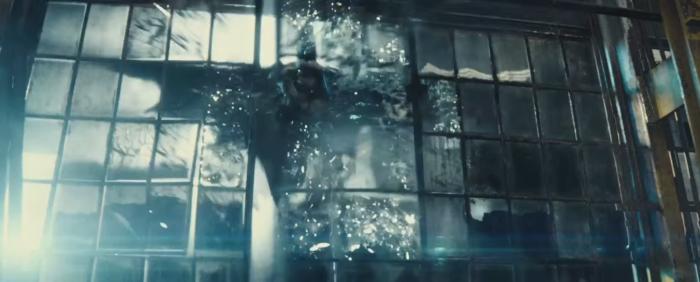 Batman V Superman Dawn of Justice Batman Crashes Through Window