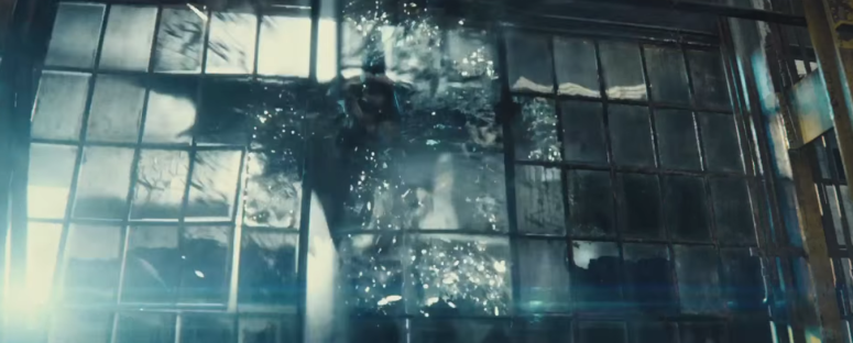 Batman V Superman Dawn of Justice Batman Crashes Through Window
