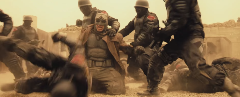 Batman V Superman Dawn of Justice Batman Fighting Soldiers