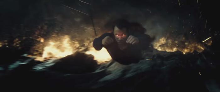 Batman V Superman Dawn of Justice Laser Eyes Flying