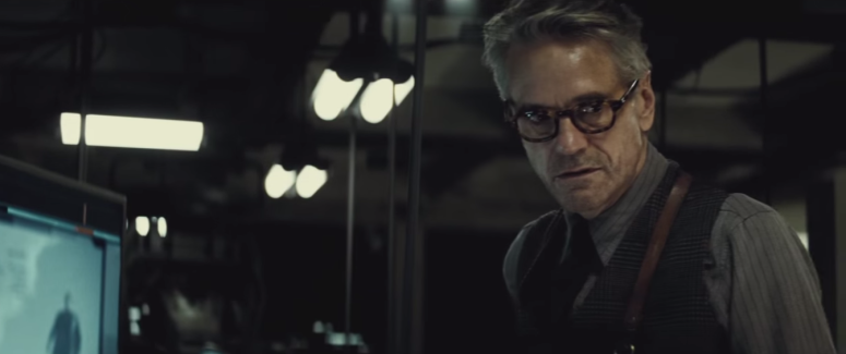 Batman Pearching with Rifle from Batman V Superman Dawn of Justice Trailer Alfred Pennywoth Jeremy Irons