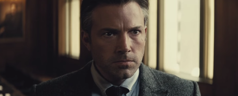 Batman Pearching with Rifle from Batman V Superman Dawn of Justice Trailer Angry Bruce Wayne